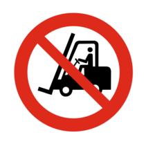 Heftrucks verboden bordje