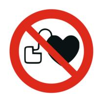 Verbod op personen met pacemaker bordje