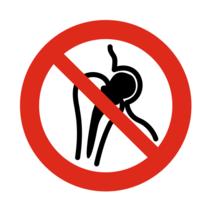 Verboden voor metalen implantaten bordje