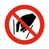 Ingrijpen verboden bordje