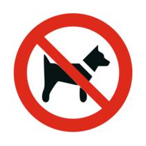 Honden verboden bordje