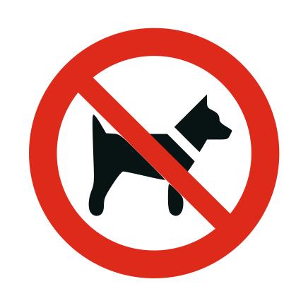 CombiCraft Honden verboden bordje ISO 7010 P021 Aluminium Ø75mm met tape