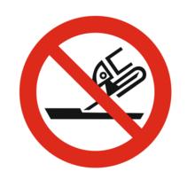 Verboden te gebruiken voor vlakslijpen bordje