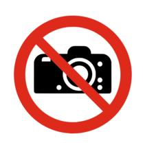 Fotograferen verboden bordje