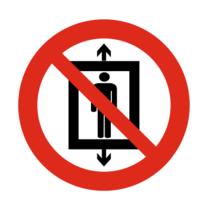 Personenvervoer verboden bordje