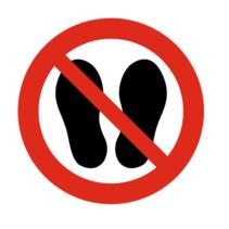 Betreden van ruimte verboden bordje