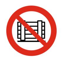 Neerzetten of opslaan verboden bordje