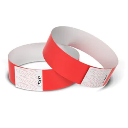TYVEK® Blanco Orginele TYVEK® polsbandjes in mooie kleuren - 100 stuks