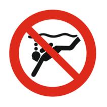Diepzeeduiken verboden bordje