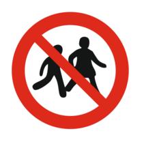 Kinderen niet toegestaan bordje
