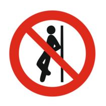 Verboden te leunen bordje