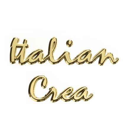CombiCraft Losse woorden Gepolijst messing 25mm hoog Schrift Modern Italiano