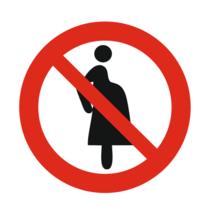 Verboden voor zwangere vrouwen bordje