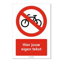 Fietsen verboden bord