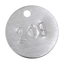 Sleutellabels Aluminium met Nummerinslag