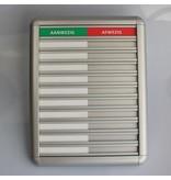 CombiCraft Aluminium Aanwezigheidsbord - Afwezigheidsbord - Presentiebord voor 10 personen