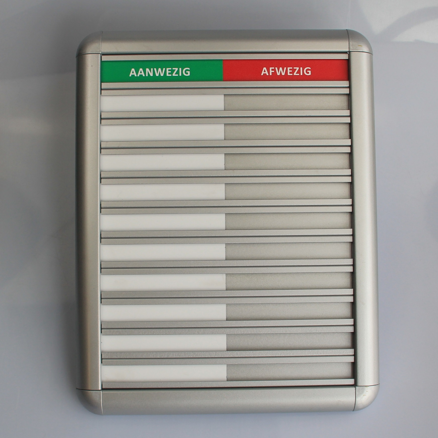 CombiCraft Aluminium Aanwezigheidsbord - Afwezigheidsbord voor 10 personen