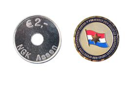 Metalen munten met een eigen ontwerp