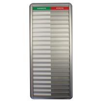 Aanwezigheidsbord Aluminium 20 namen