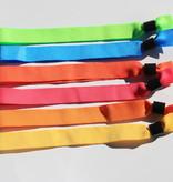 CombiCraft Polsbandjes van textiel 100 stuks 5-kleurenmix met een caplock sluiting