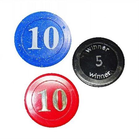 CombiCraft Voorbeeld van een aantal casino- en pokermunten