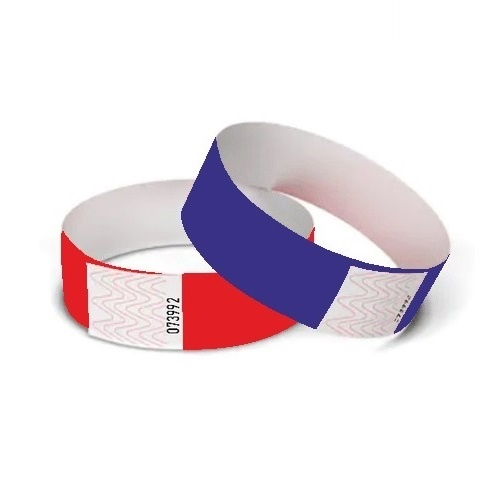 TYVEK® Blanco TYVEK© polsbandjes 10-kleurenmix 100 stuks