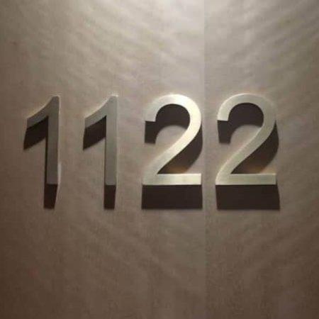 CombiCraft Aluminium 3D-hotelkamernummers, deurnummers  en huisnummers in alle formaten.