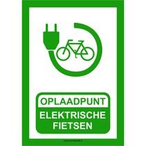Oplaadpunt elektrische fietsen bord