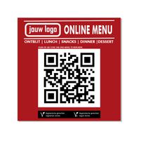 QR bordje voor online menu