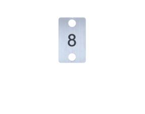 Edelstaal Nummerplaatjes