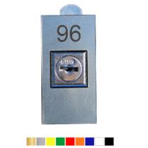Nummerplaatjes met gat voor slot