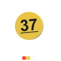 Nummerplaatjes 1-50  in verschillende kleuren