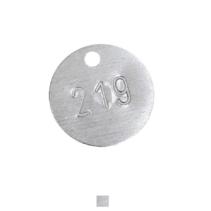 Aluminium Rond met nummerinslag