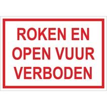 Roken en open vuur verboden