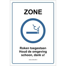 Zone, Roken toegestaan