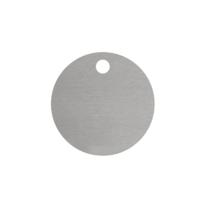 Blanco Aluminium Rond Zilver met 1 gat
