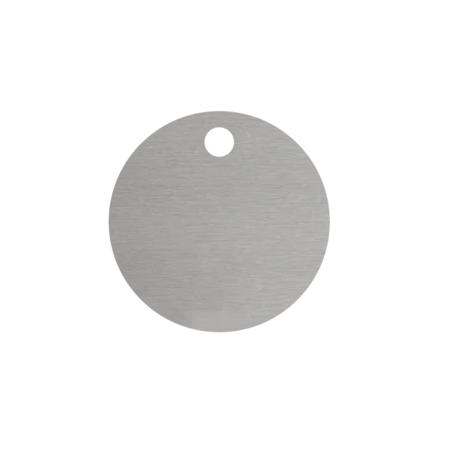 CombiCraft Blanco Nummerplaatjes Aluminium Zilver Rond met 1 gat