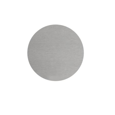 CombiCraft Blanco Nummerplaatjes Aluminium Zilver Ø30mm Rond ½mm dik met tape