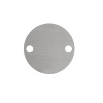 Blanco Aluminium Rond Zilver met 2 gaatjes