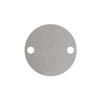 CombiCraft Blanco Nummerplaatjes Aluminium Zilver Rond ½mm dik met 2 gaatjes
