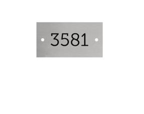 Kunststof Nummerplaatjes