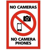 Niet fotograferen, Geen camera's bord
