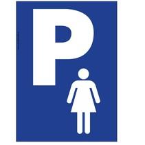 Vrouwen parkeerplaats bord