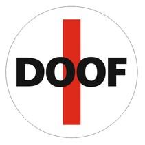Slechthorend bordje met tape (DOOF)