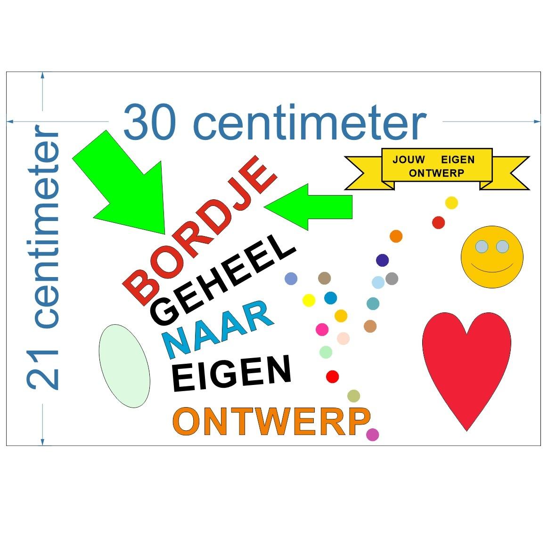 CombiCraft Liggend bordje gemaakt naar jouw wens in 21x30cm (ca. A4)