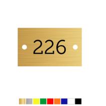 Kunststof Huisnummer plaatje met 2 gaatjes