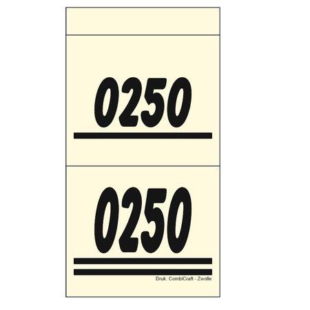 CombiCraft Dubbelnummers, Garderobenummers, Loten of Lootjes - Balloon per 1000 Dubbelnummers
