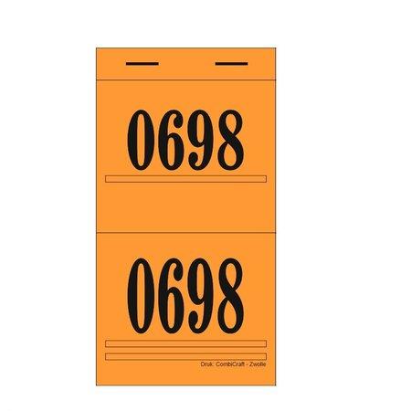 CombiCraft Dubbelnummers, Garderobenummers, Loten of Lootjes - Fiore per 1000 Dubbelnummers