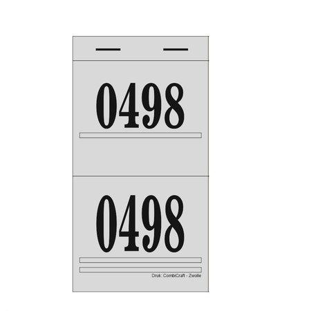 CombiCraft Grote stevige dubbelnummers,  lootjes of garderobenummers FIORE