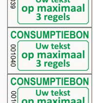 Consumptiebonnen met tekst en nummering grijs